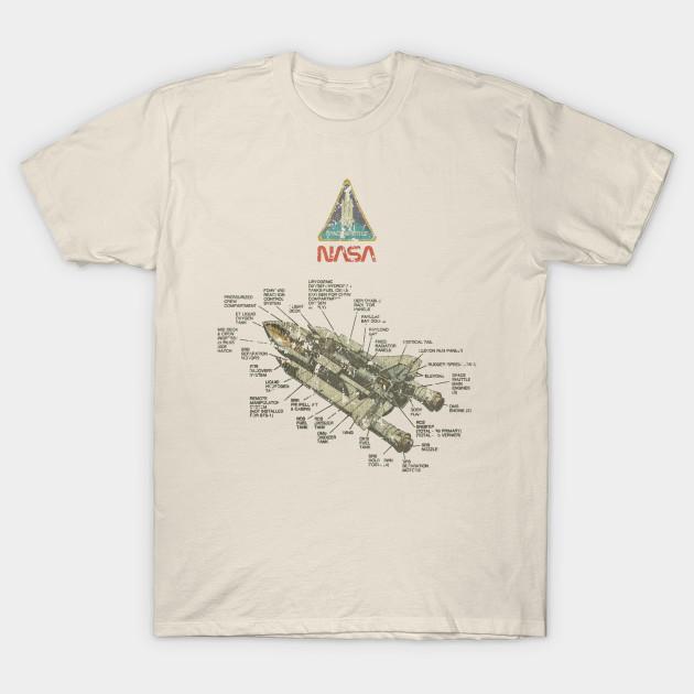 Vintage Space Shuttle Diagram Nasa T Shirt Teepublic