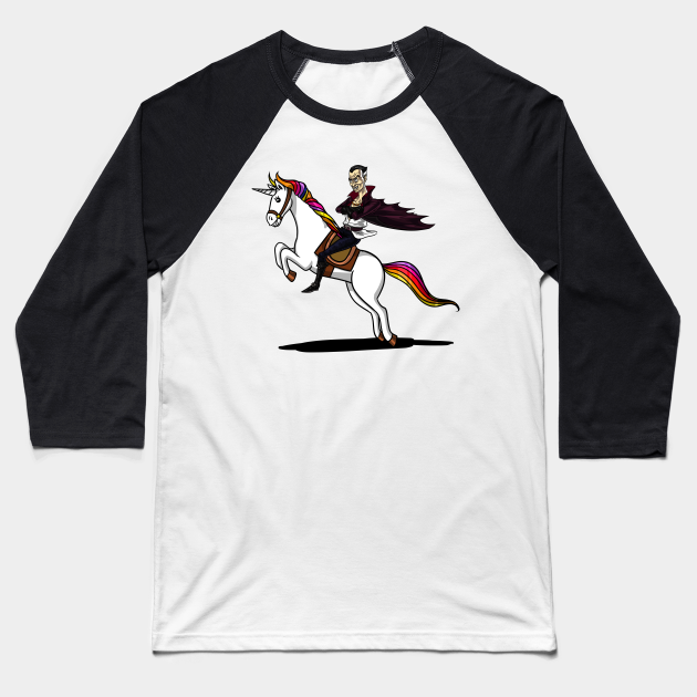 Scary Vampire Riding Unicorn Funny Magical