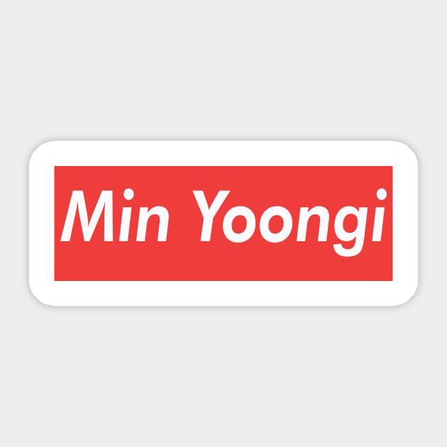 Min Yoongi Supreme Suga Sticker Teepublic