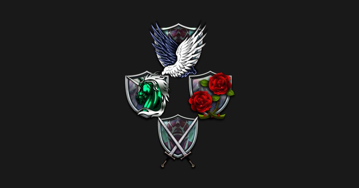 Attack on Titan Emblems - Cool - T-Shirt   TeePublic