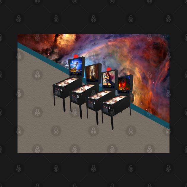 Retro Pinball Video Machines Orion Nebula Wall, TPSSG