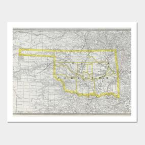 Oklahoma Map Posters and Art Prints | TeePublic on map okc ok, google maps newkirk ok, counties in oklahoma city ok, downtown oklahoma city ok, city of broken arrow ok,