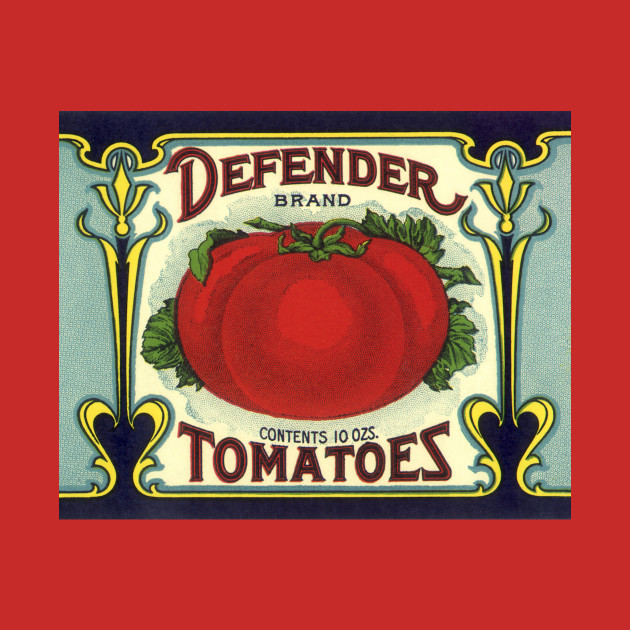Vintage Defender Tomatoes Label