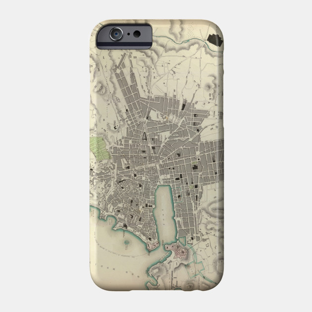 Marseille On Map Of France.Vintage Map Of Marseille France 1840 Marseille Map Phone Case