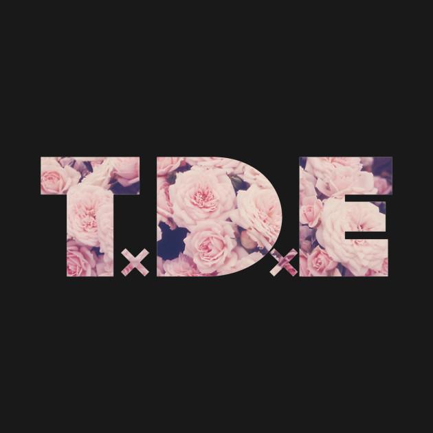 TDE Pink Flowers Logo