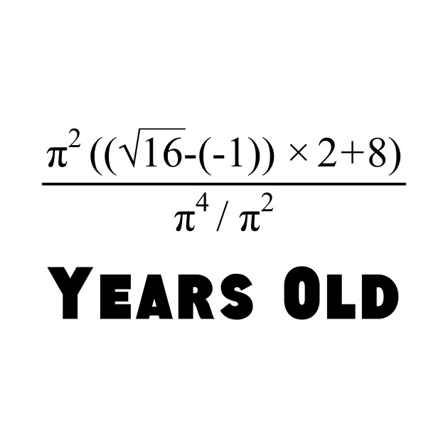 980bc752 Algebra Equation 18th Birthday - Birthday - T-Shirt   TeePublic