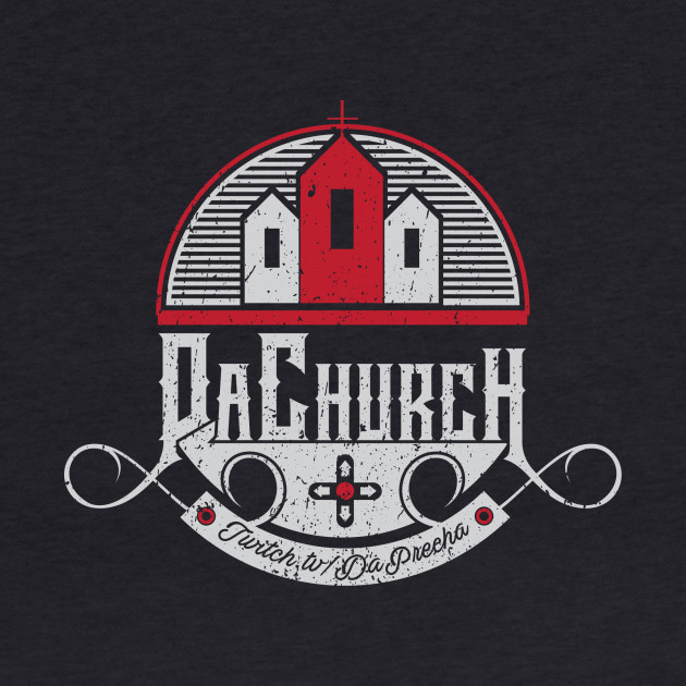 Da Church logo black background