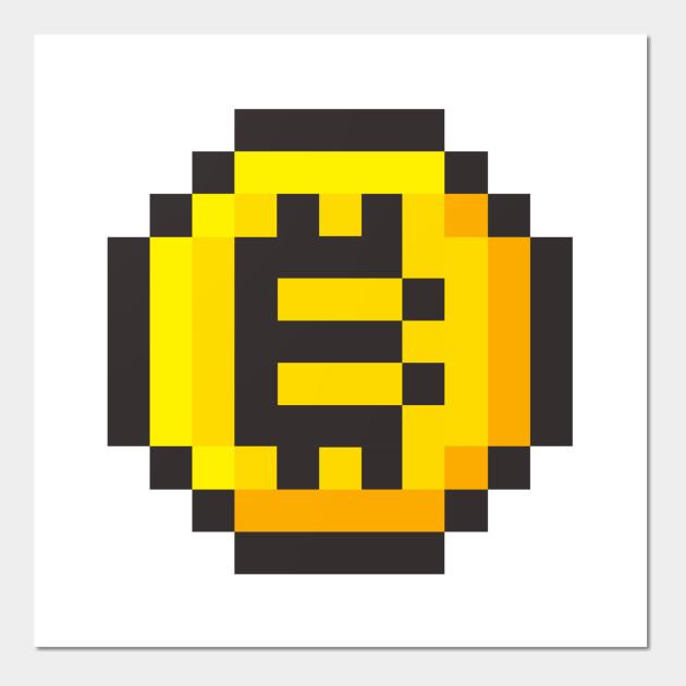 Bitcoin 8 bit - Bitcoin 8 Bit - Wall Art   TeePublic