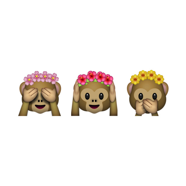 Emoji Monkeys Flower Crown