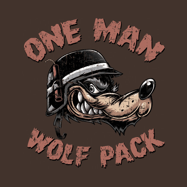 One Man Wolf Pack, distressed