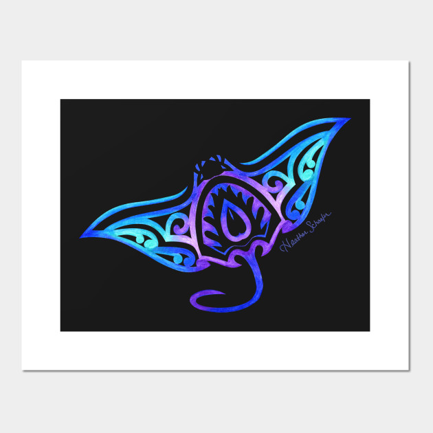b7dd7b25b Tribal Manta Ray - Manta Ray - Posters and Art Prints | TeePublic