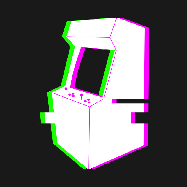 Retro Glitch Arcade Machine