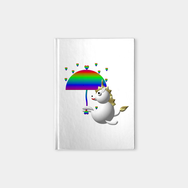 Cute Unicorn Under an Umbrella