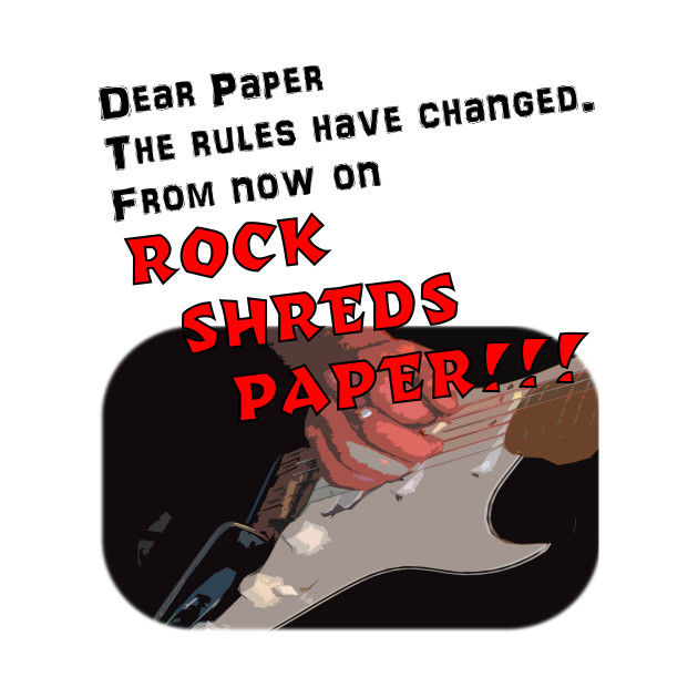 Rock Shreds Paper