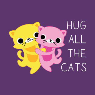 Hug All The Cats t-shirts