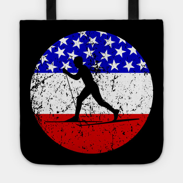 American Flag Cross Country Skiing Cross Country Skiing Tote