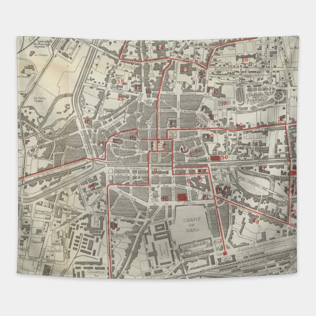 Map Of France Rennes.Vintage Map Of Rennes France 1905 Rennes France Map Tapestry