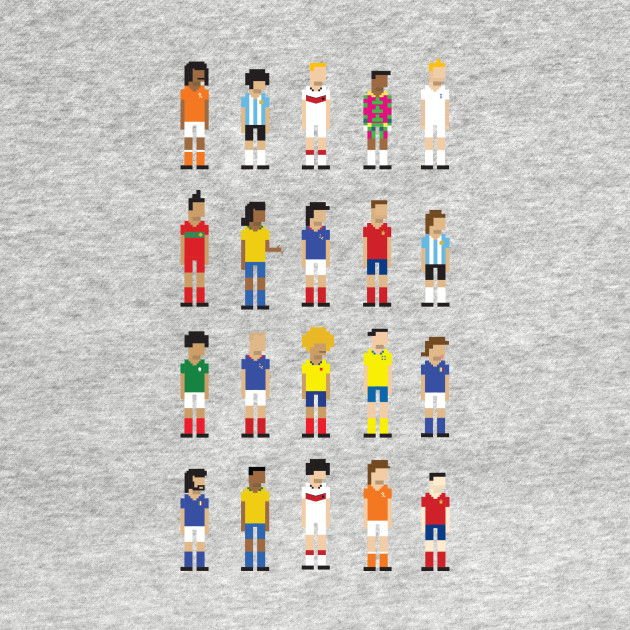 Historic football players in 8-bit