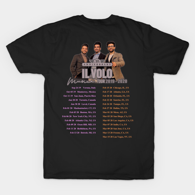 Il Volo Tour 2020.Il Volo Tour 2019 2020 Back