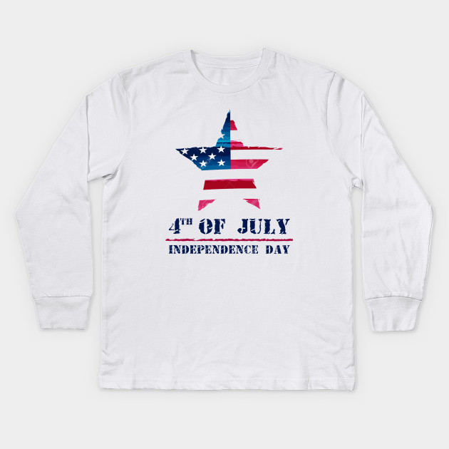 314aa179528e star-in-USA-drawing-flag-and-4th-of-July-Independence-Day-american-holiday-concept-Stock-Photo  Tshirt Kids Long Sleeve T-Shirt