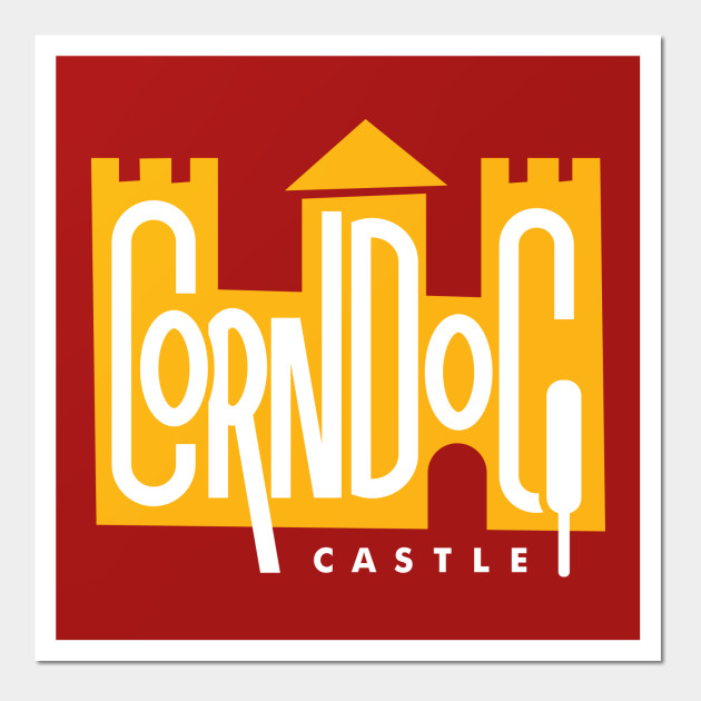 Corn Dog Castle — Yellow - Disney - Wall Art | TeePublic