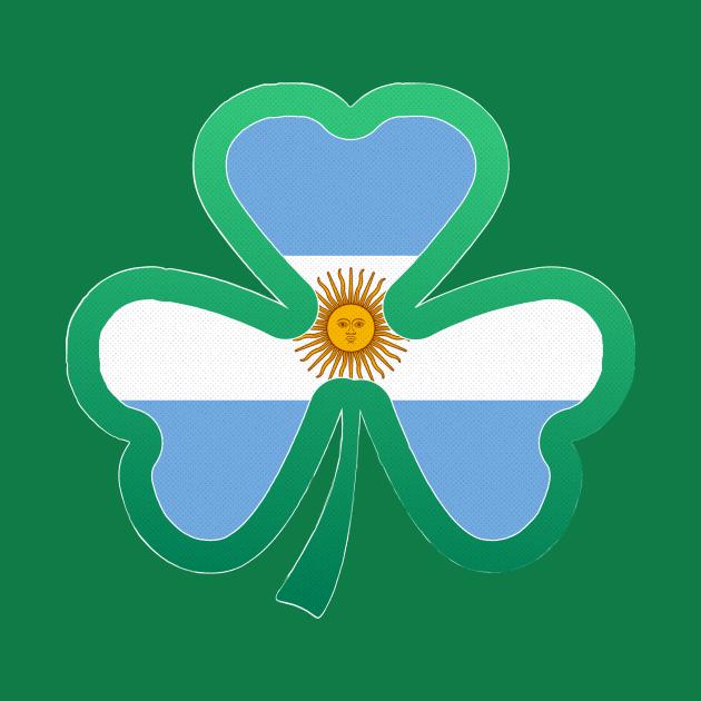 Argentina Flag for st patricks day, Irish Shamrock