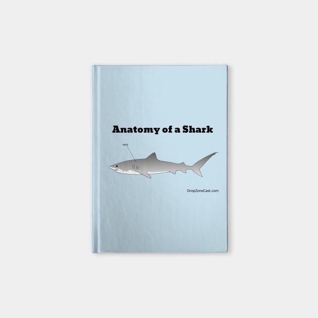 Anatomy of a Shark - Anatomy Of A Shark - Notebook   TeePublic