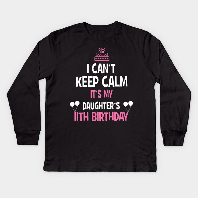 839503269 11th Birthday girl t-shirt 11 years old party gift Kids Long Sleeve T-Shirt