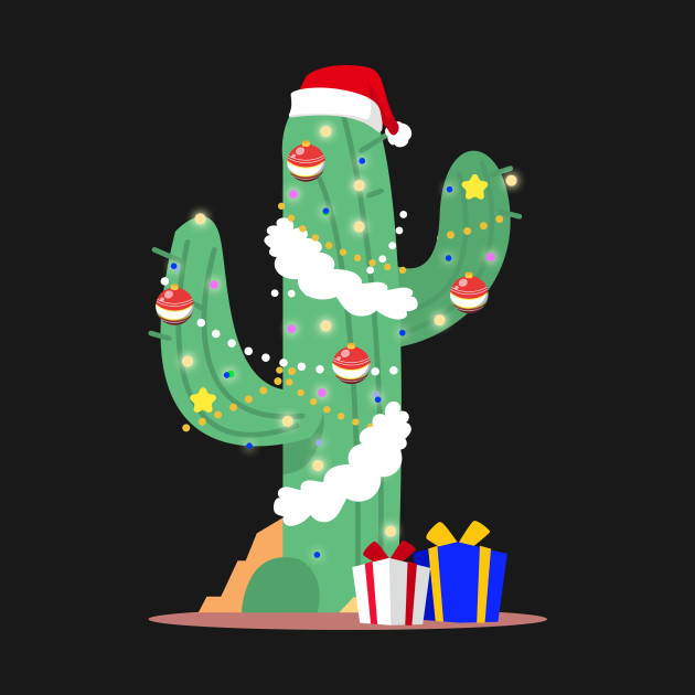Funny Cactus Christmas Tree Desert Decorated Gifts