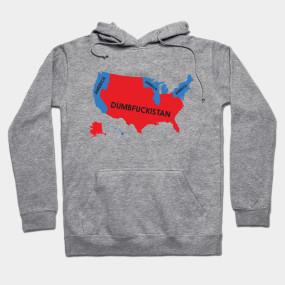 Dumbfuckistan Map Dumbfuckistan Crewneck Sweatshirt TeePublic - Tee shirt us map dumbfuckistan