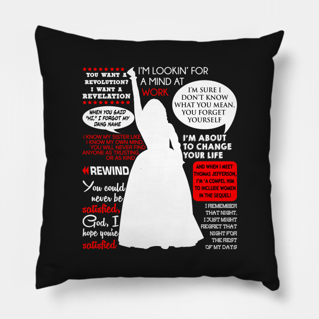 Pillow Quotes Impressive Angelica Schuyler Quotes Hamilton Angelica Schuyler Pillow