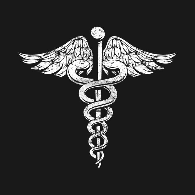 Vintage Caduceus Symbol - Nurses Doctors Medic Healthcare