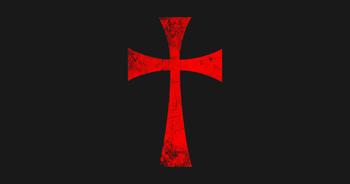 Distressed Crusader Knights Templar Cross by meatman