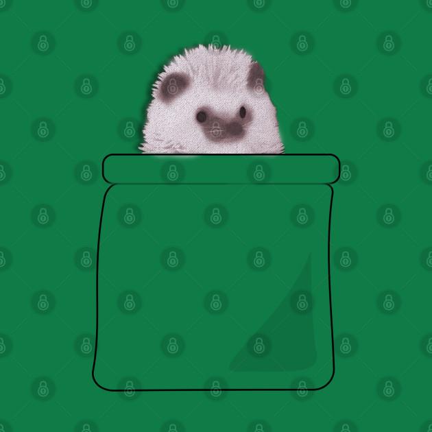 Cute hedgehog in the pocket