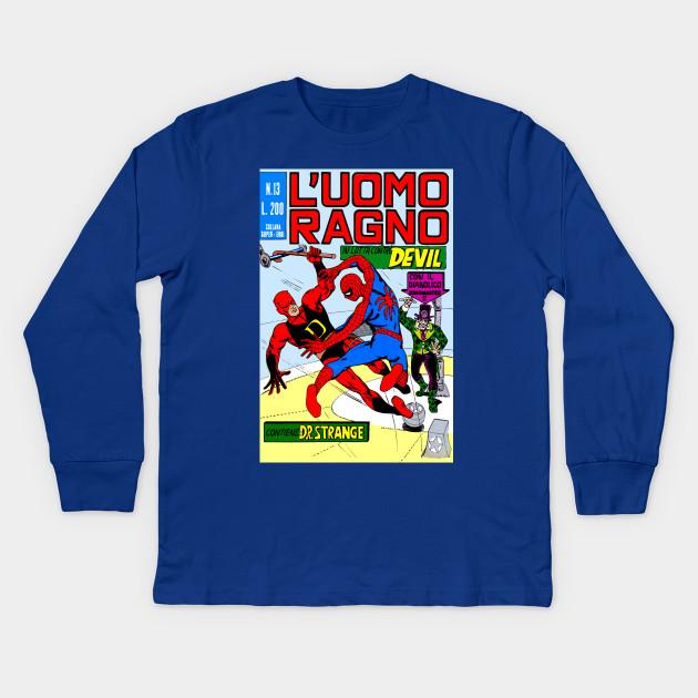 59b3db46a L'uomo Ragno Italian Spiderman - Spider Man - Kids Long Sleeve T ...