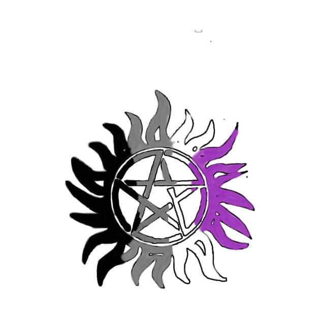 Asexual Pride Flag Anti Possession Symbol Supernatural T Shirt