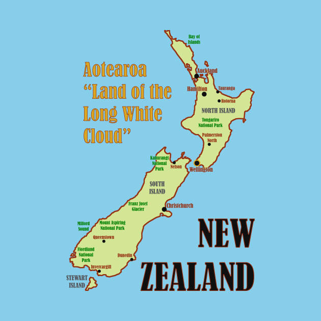Map Of New Zealand Auckland.New Zealand Map