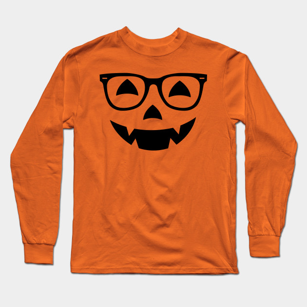 Nerd Jack O Lantern Face Glasses