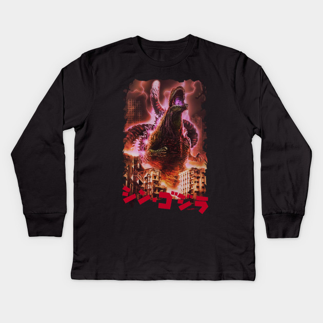 70f745be Shin Godzilla - Color - Godzilla - Kids Long Sleeve T-Shirt | TeePublic