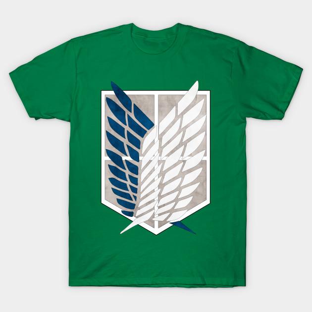 0acb3903472f Attack On Titan  Survey Corps logo - Anime - T-Shirt