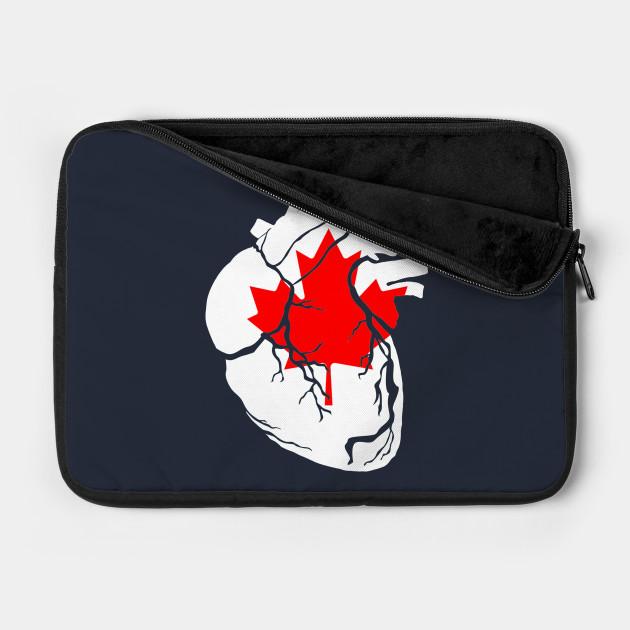Anatomical heart design, Canadian flag