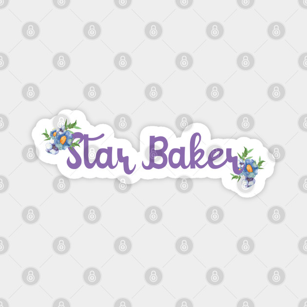star baker with flowers