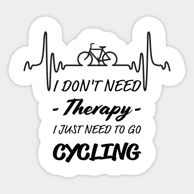 Bicycle T-Shirt. T Shirt Gifts For Cyclist, Cycling Tee Shirt, Men's Birthday Gifts. Sticker