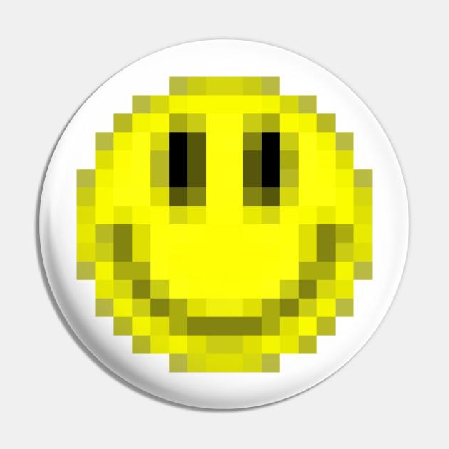 Pixelart Acid House Smiley Face