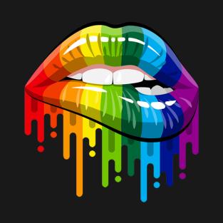 cb47b5c5d9227 Rainbow Lips T-Shirts | TeePublic