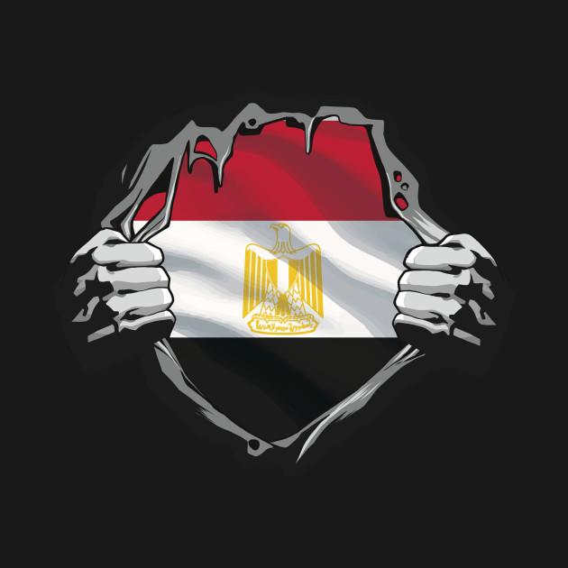EGYPTIAN FLAG CHEST T-SHIRT DESIGN