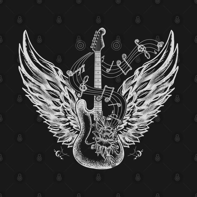 Guitar and wings
