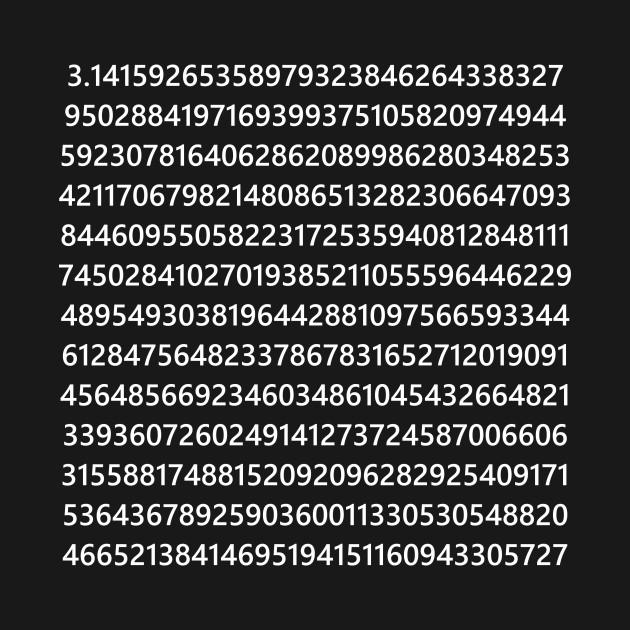 pi digits pi tshirt teepublic