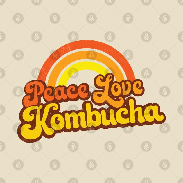 PEACE, LOVE, KOMBUCHA - Retro Rainbow