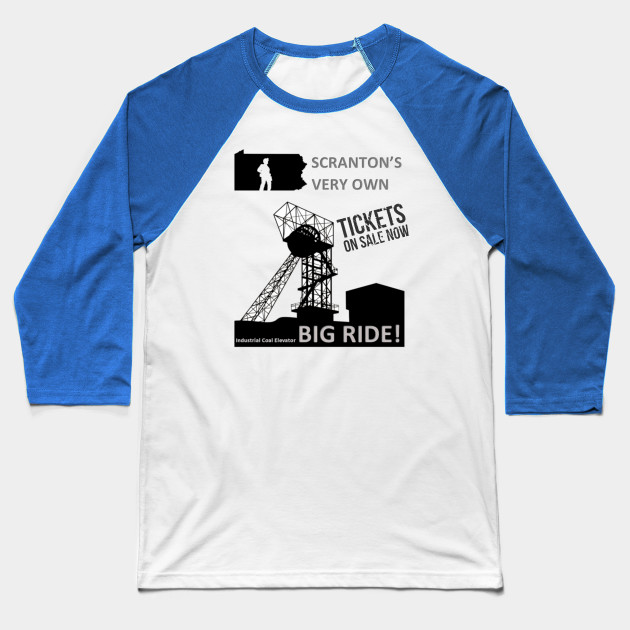 The Office - Industrial Coal Elevator Baseball T-Shirt